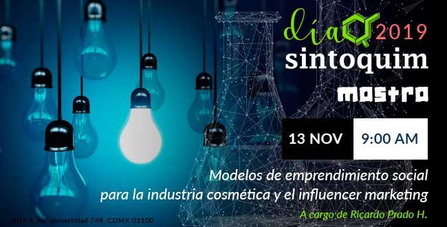 Día Sintoquim 2019 Conferencia Modelos de emprendimiento social