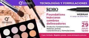 Webinar KOBO Foundation, mascara, delineador sombras