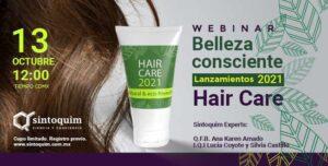 Webinar Sintoquim Lanzamientos 2021 Hair Care Belleza Consciente